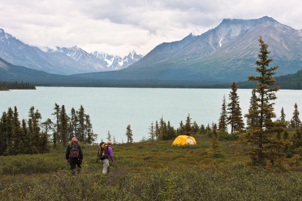 Camping at Lake Clark National Park, Alaska